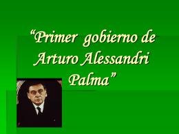 Primer gobierno de Arturo Alessandri Palma