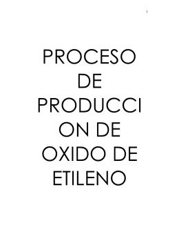 Proceso de producción de óxido de etileno