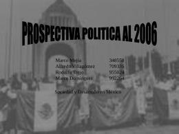 Prospectiva política para el 2006 en México