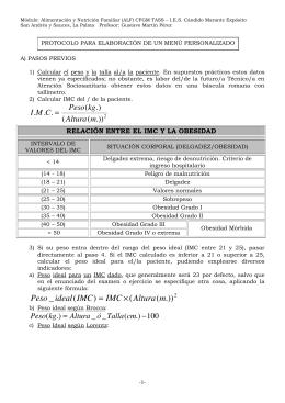 Fórmulas para el cálculo del metabolismo basal