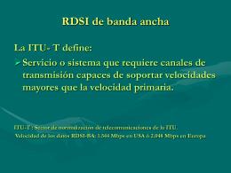 RDSI de banda ancha
