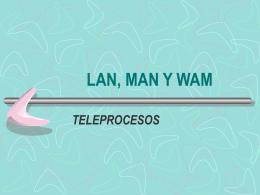 Redes LAN, MAN y WAM