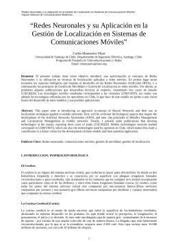 Redes neuronales y su aplicación en gestión de localización en sistemas de comunicaciones móviles