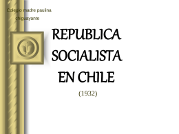 Republica socialista en Chile