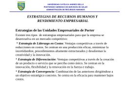 RRHH (Recursos Humanos) y rendimiento empresarial
