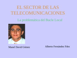 Sector de Telecomunicaciones: El bucle local