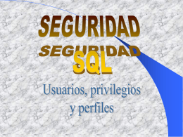 Seguridad SQL (Structured Query Language)