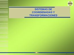Sistema de coordenadas y transformaciones