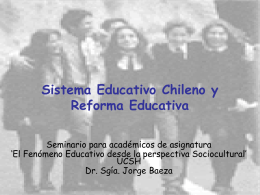Sistema Educativo Chileno