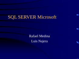 SQL server (Structured Query Language)