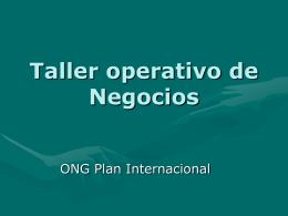 Taller operativo de Negocios. Plan Internacional