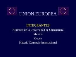 UE (Unión Europea): países e instituciones