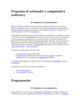 Programa de ordenador o computadora (software)