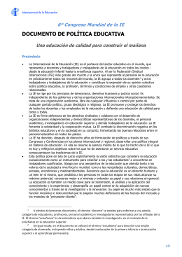 Documento de política educativa