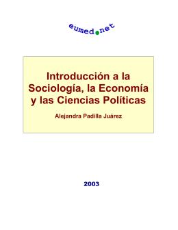 Introducción a la Sociología, la Economía y a las Ciencias Políticas