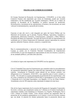 politicas de comercio exterior - Dirección de Administración del