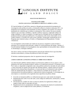 Formato de la propuesta - Lincoln Institute of Land Policy