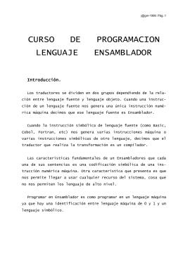 CURSO DE PROGRAMACION