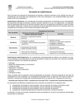 Glosario de Competencias - Ministerio de Educación Nacional