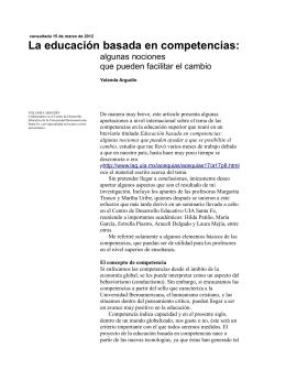Educación basada en competencias.facilitar el cambio_Argudin2012