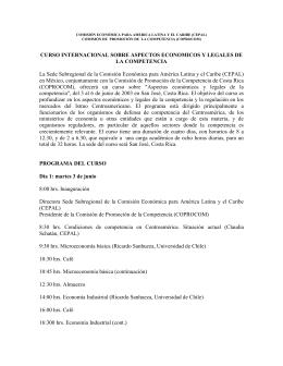 Programa Curso - Comisión Económica para América Latina y el
