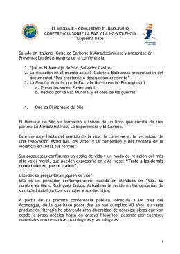 EL MENSAJE - CONFERENCIA SOBRE LA PAZ Y LA NO