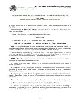 Ley para el Diálogo, la Conciliación y la Paz Digna en Chiapas