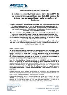 COMENTARIOS MATRICULACIONES FEBRERO