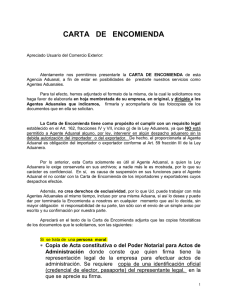 CARTA DE ENCOMIENDA