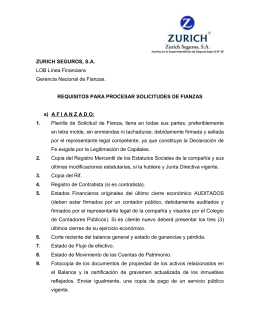Requisitos para Fianzas