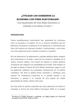 el ciclo politico economico