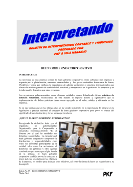 INTERPRETANDO : BUEN GOBIERNO CORPORATIVO