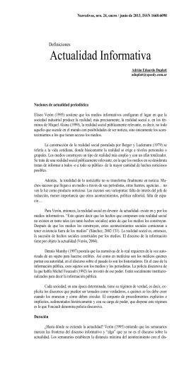 Narrativas, nro. 24, enero / junio de 2013, ISSN 1668