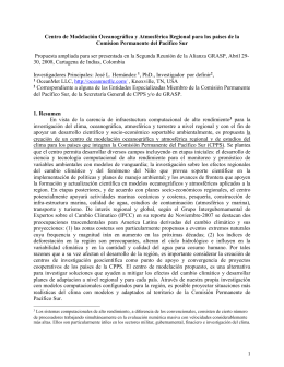 CPPS/DC/GRASP-II/06 Centro de Modelación Oceánica y