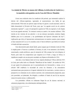 La ciudad de México en manos del villismo, la defección de