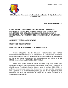 PRONUNIAMIENTO garay.. - Congreso del Estado de Baja