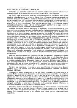 Montañismo - Federación Española de Deportes para Ciegos