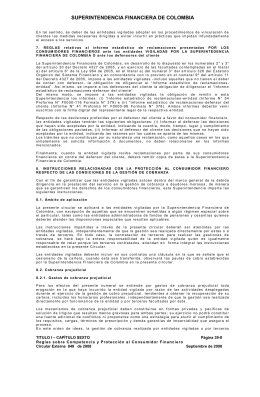 SUPERINTENDENCIA FINANCIERA DE COLOMBIA