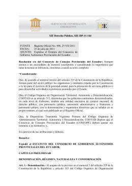 FUENTE Registro Oficial No. 498, 25-VII-2011
