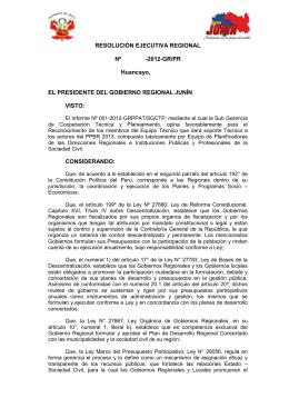 RESOLUCION EJECUTIVA REGIONAL Nº -2004-GR/PR