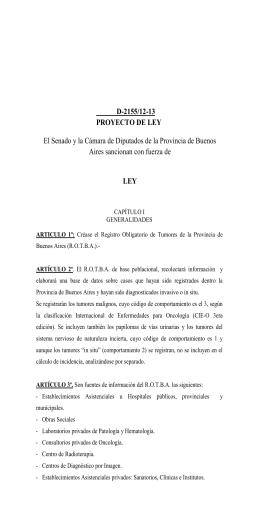 D-2155/12-13 PROYECTO DE LEY LEY