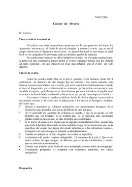 24-02-2006 Cáncer de Ovario Dr. Cabrera Características