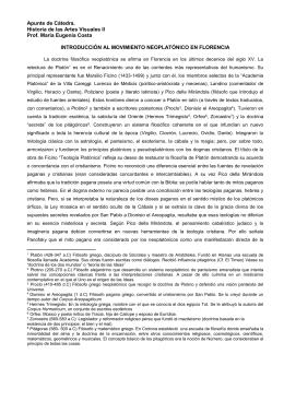 Introducción al movimiento neoplatónico en Florencia.
