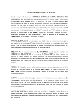 Contrato de trabajo para obra o servicio determinado for Modelo contrato laboral