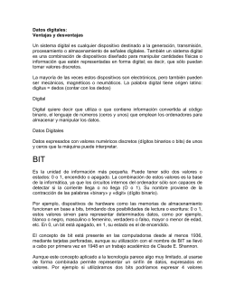 Datos digitales: - TISG-203