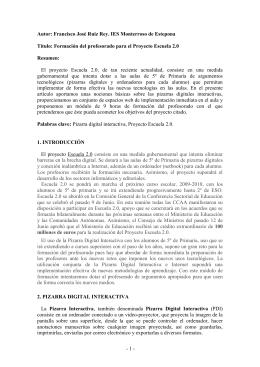 Formación del profesorado para el Proyecto Escuela 2.0. - DIM-UAB