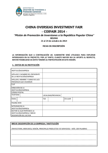 CHINA OVERSEAS INVESTMENT FAIR - COIFAIR 2014 -