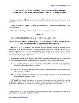 Ley de Protección al Comercio y la Inversión de Normas Extranjeras