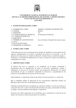 syllabus - Facultad de Ciencias Biológicas