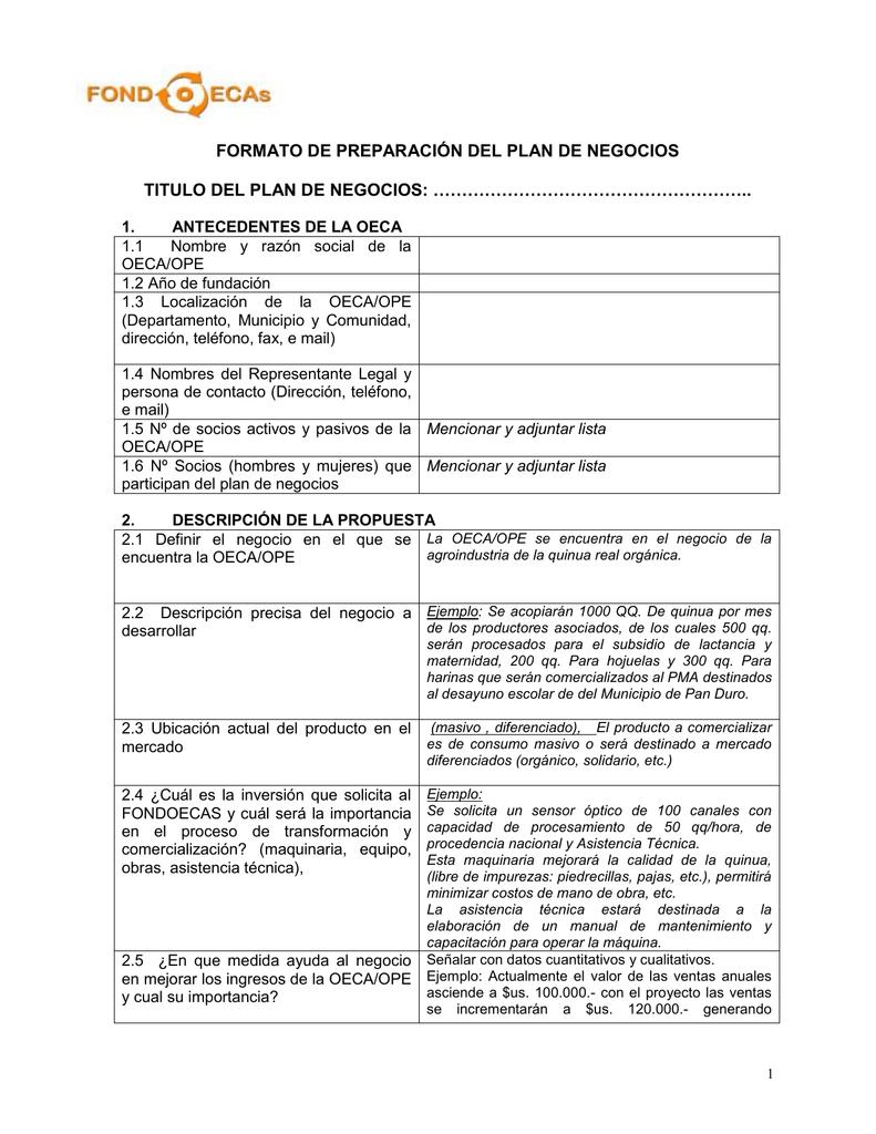 formato plan de negocio no 03 11